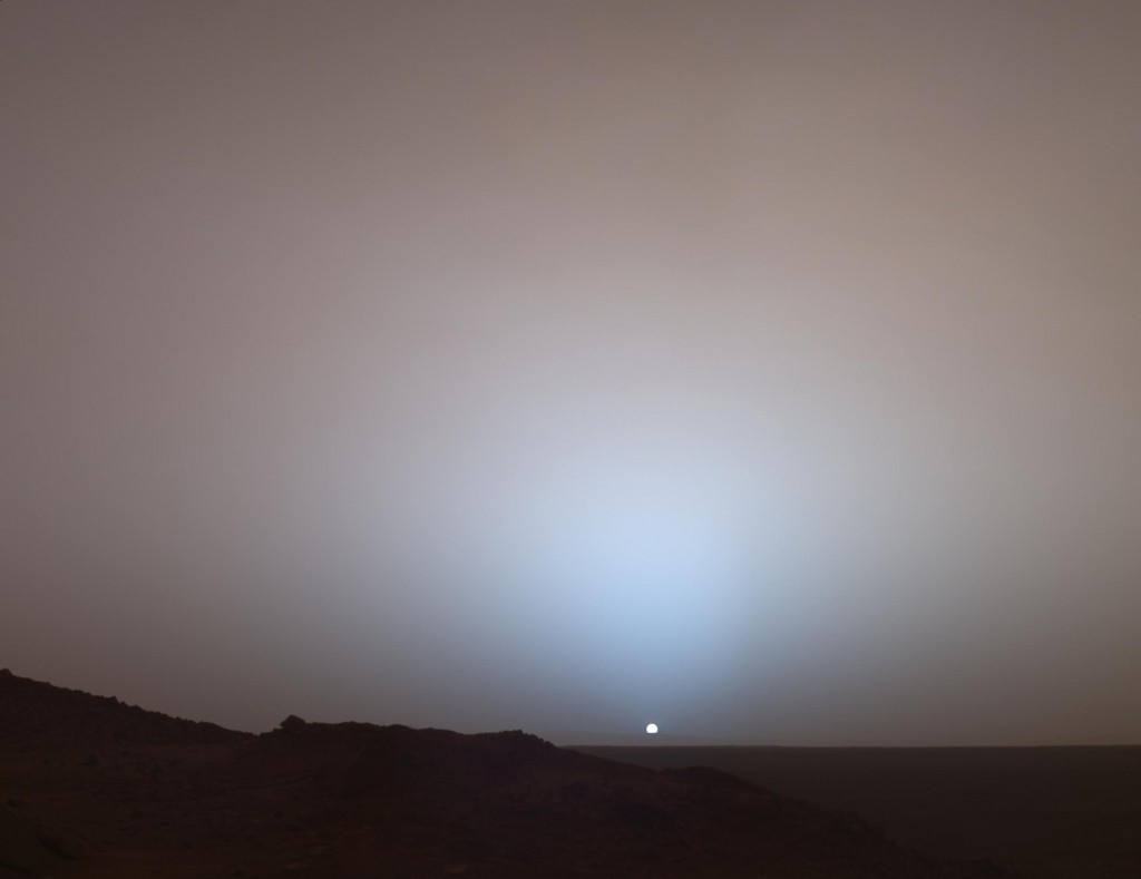 Sunset on Mars by NASA under CC licence